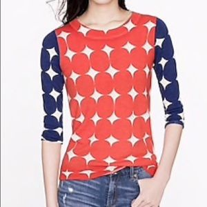 JCrew Tippi sweater in Pop Art Dot